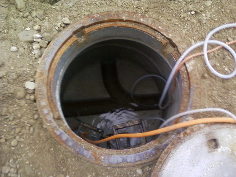 Kanalanschluss Regenentwässerung Erdarbeiten Verbindungsrohre dichtheitstest