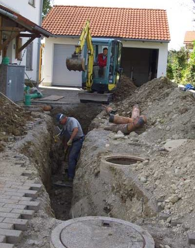 Kanalarbeiten Sanierung Kanalleitung
